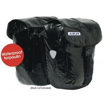 Azur Tarpaulin Pannier Bag (Pair) Black