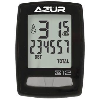 Azur Z12 Wireless 12 Function Bike Computer Black