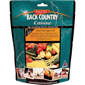 Back Country Cuisine Beef Stroganoff 90g Freeze-Dried Meal (Gluten Free)