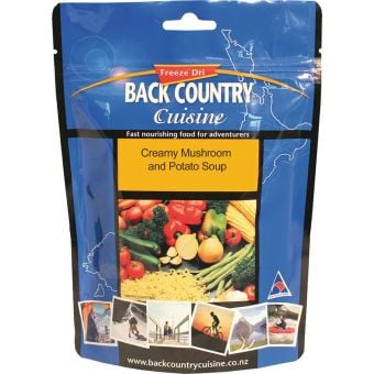 Back Country Cuisine Creamy Mushroom & Potato Soup 60g Freeze-Dried Meal (Gluten Free)