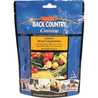 Back Country Cuisine Instant Mixed Vegetables 5-Serve 160g Freeze-Dried Meal (Gluten Free)
