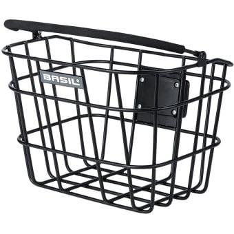 Basil Bremen BE/KF Front Mount Aluminium Bike Basket Black