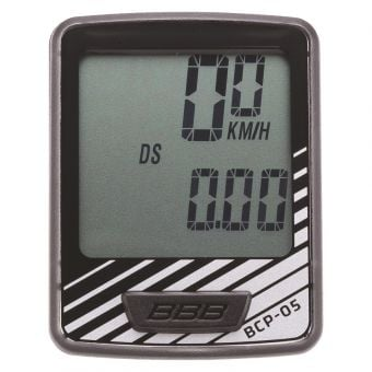 BBB BCP-05 Dashboard 7 Function Wired Cycling Computer Black/Silver