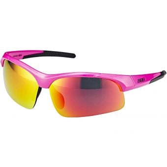 BBB BSG-48 Impress Small Fit Sport Glasses Pink Frame Mirrored Smoked Lens