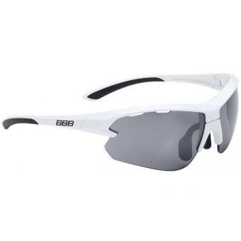 BBB BSG-52S Impulse Small Fit Sport Glasses Glossy White Frame Smoked Lens