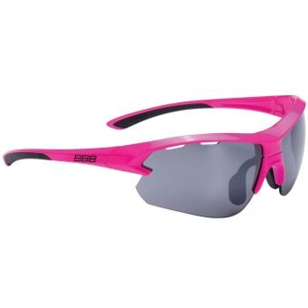 BBB BSG-52S Impulse Small Fit Sport Glasses Neon Pink Frame Smoked Lens