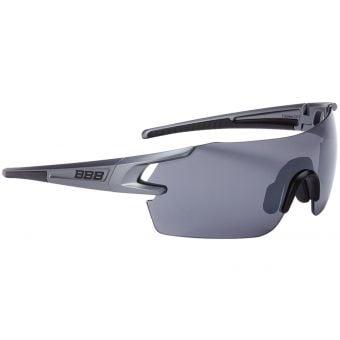 BBB BSG-53 FullView Sport Glasses Grey Frame Smoked Lens