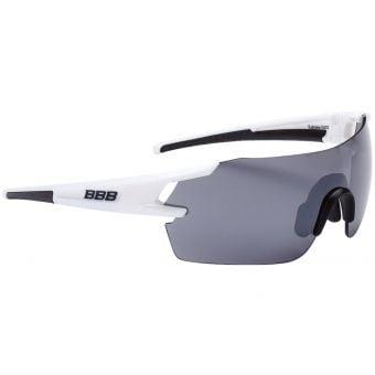 BBB BSG-53 FullView Sport Glasses White Frame Smoked Lens