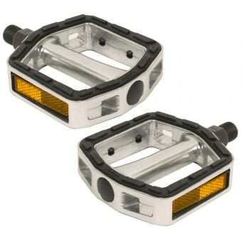 BC Cruiser Bicycle Aluminium Pedals Silver/Black
