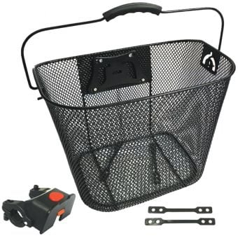 BC Wire Mesh Quick Release Adjustable Front Basket Black