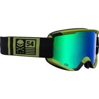 Bell Descender CrossBones MTB Goggles Green/Black with Revo Green Mirror Lens