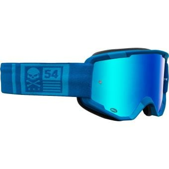 Bell Descender CrossBones MTB Goggles Light Blue/Blue with Blue Mirror Lens