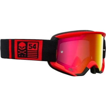 Bell Descender CrossBones MTB Goggles Red/Black with Revo Red Mirror Lens
