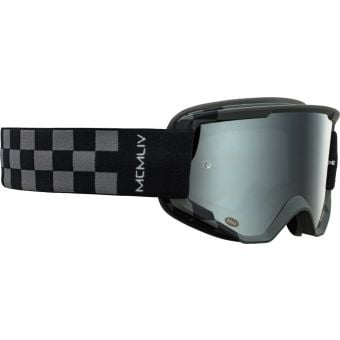 Bell Descender Podium MTB Goggles Grey/Black with Silver Mirror Lens