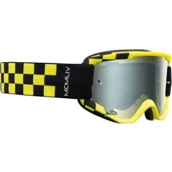 Bell Descender Podium MTB Goggles Hi-Viz Yellow/Black with Silver Mirror Lens