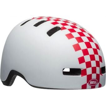 Bell Lil Ripper Child/Toddler Helmet Checkers Matte White/Pink