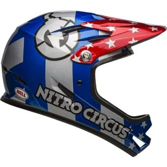 Bell Sanction Full Face Helmet Nitro Circus Red/Silver/Blue Large