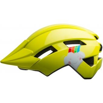 Bell Sidetrack II Toddler Helmet Gloss Yellow/Rainbow Unisize