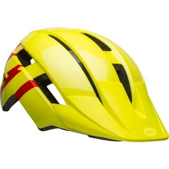 Bell Sidetrack II Youth Helmet Hi-Viz Yellow/Red Unisize