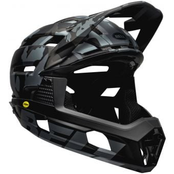 Bell Super Air R MIPS Full Face MTB Helmet Matte Black Camo