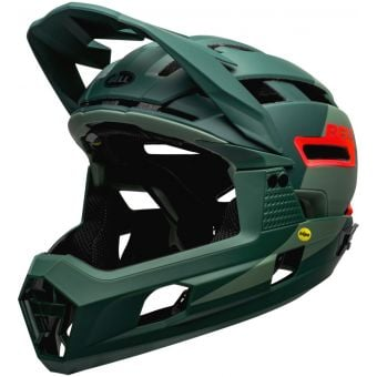 Bell Super Air R MIPS Full Face MTB Helmet Matte Green/Infrared