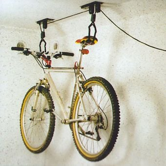 Bicycle Lift Pulley Storage System