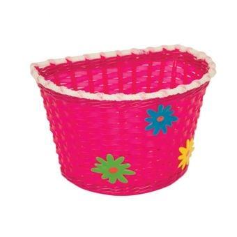 Bikecorp Kiddies Basket Pink Flowers