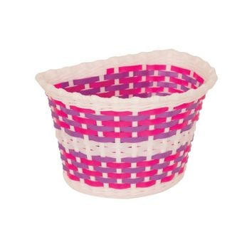 Bikecorp Kiddies Basket Pink Weave