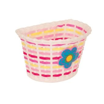 Bikecorp Kiddies Basket White/Pink