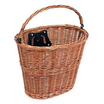 Bikecorp Quick Release Wicker Basket Tan
