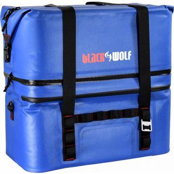 BlackWolf 60L 2 Compartment Soft Cooler Blue/Black