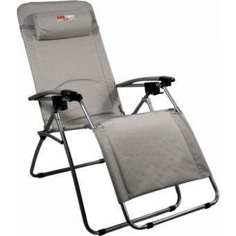 BlackWolf Folding Reclining Lounger Chair Paloma Grey