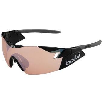 Bolle 6th Sense Sunglasses Shiny Black/Grey w/Rose Lens