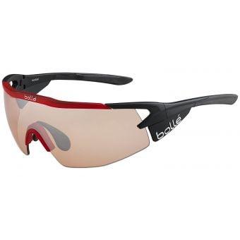 Bolle Aeromax Sunglasses Black/Red w/Mod Rose Gun Lens