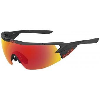 Bolle Aeromax Sunglasses Matte Black w/TNS Fire Lens