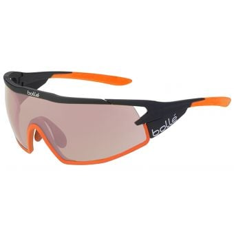 Bolle B-Rock Pro Sunglasses Matte Black/Orange w/Mod Rose Gun Lens