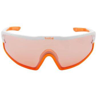 Bolle B-Rock Pro Sunglasses Matte White/Orange w/Rose Gold Lens