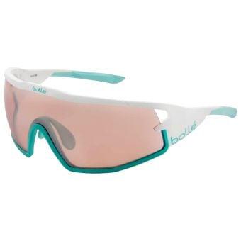 Bolle B-Rock Sunglasses Matte White/Mint w/Mod Rose Gun Lens