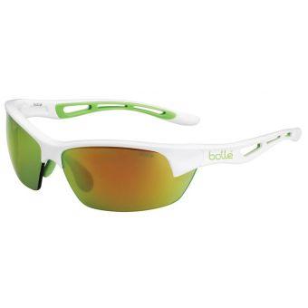 Bolle Bolt S Sunglasses Shiny White w/Brown Emerald Lens