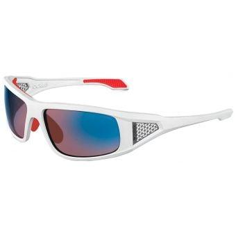 Bolle Diablo Sunglasses Shiny White w/Rose Blue Lens