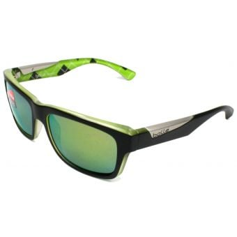 Bolle Jude Sunglasses Black/Lime w/Pol Brown Emerald Lens