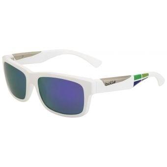 Bolle Jude Sunglasses Matte White Square w/Blue Violet Lens