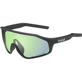 Bolle Shifter Sunglasses Black Matte (Phantom Clear Green Photochromic Lens)