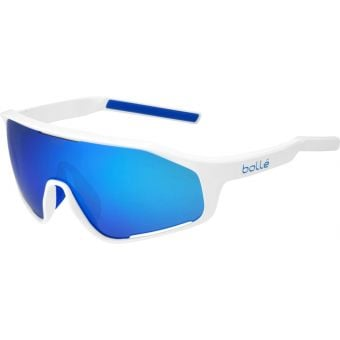 Bolle Shifter Sunglasses White Shiny (Brown Blue Lens)