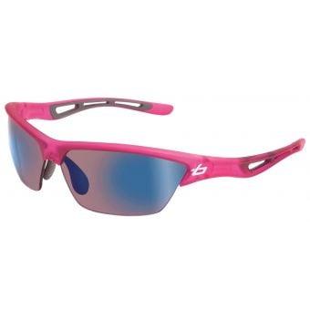 Bolle Tempest Sunglasses Satin Crystal Pink w/Rose Blue Lens