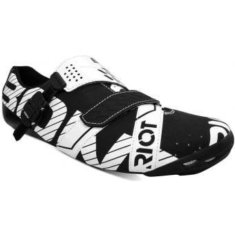 Bont Riot Buckle MicroFibre Road Shoes Black/White