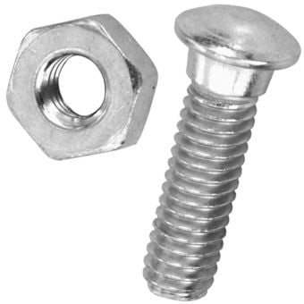 """Brooks 1"""" Bolt & Nut Saddle Assembly for B66/B67/Flyer/Conquest/Countess"""