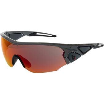 BZ Optics CRIT Graphite Grey Sunglasses HD Orange Mirror Lens