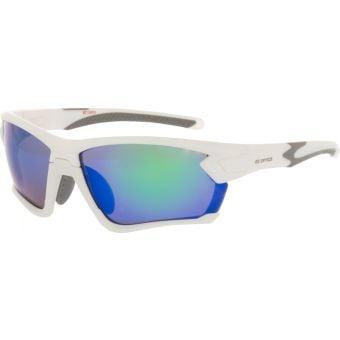 BZ Optics Tour Sunglasses Matte White (Green Mirror Lens)