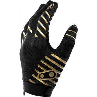 Crank Brothers X 100% Collection iTrack Gloves Gold/Black